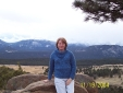 Susan in the Rocky Mountain National Park