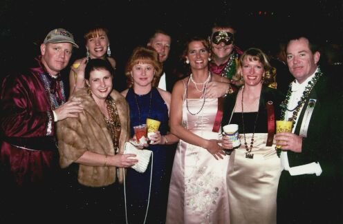 The whole gang at the Knights of Ecor Rouge Ball, 2001